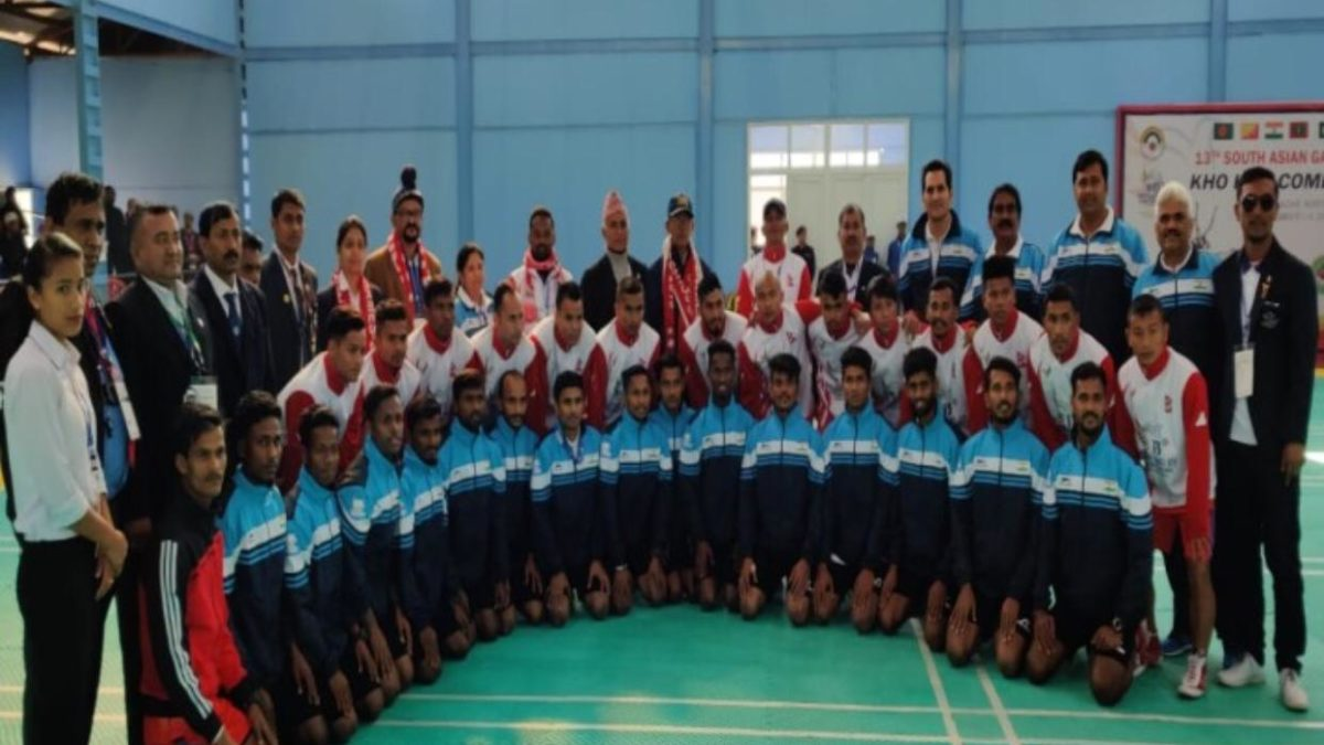 Indian men's Kho Kho team entered semi-finals of the 13th South Asian Games   Sports247live