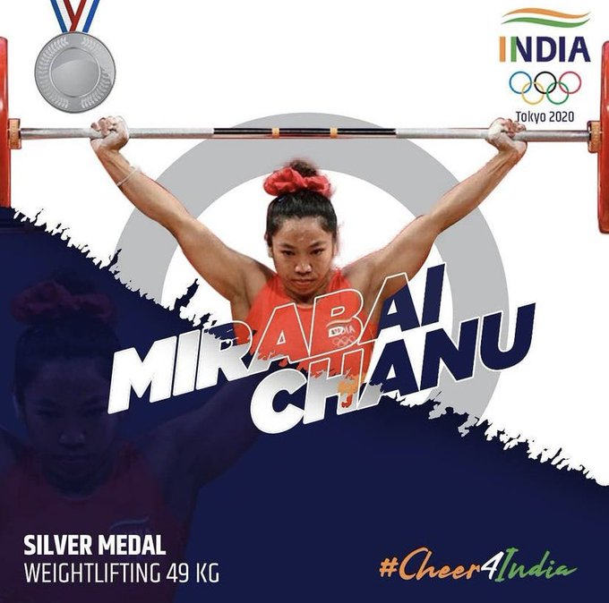 winning India's first medal @Tokyo2020