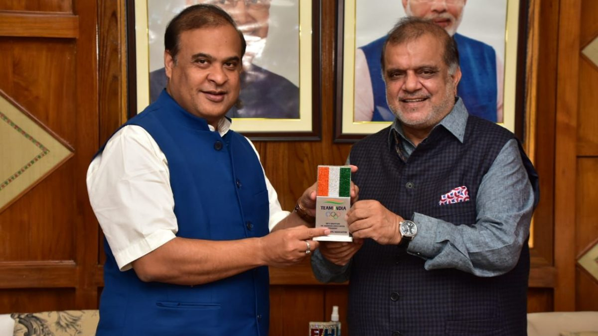 IOA President meets the CM of Assam to discuss about development of Sports