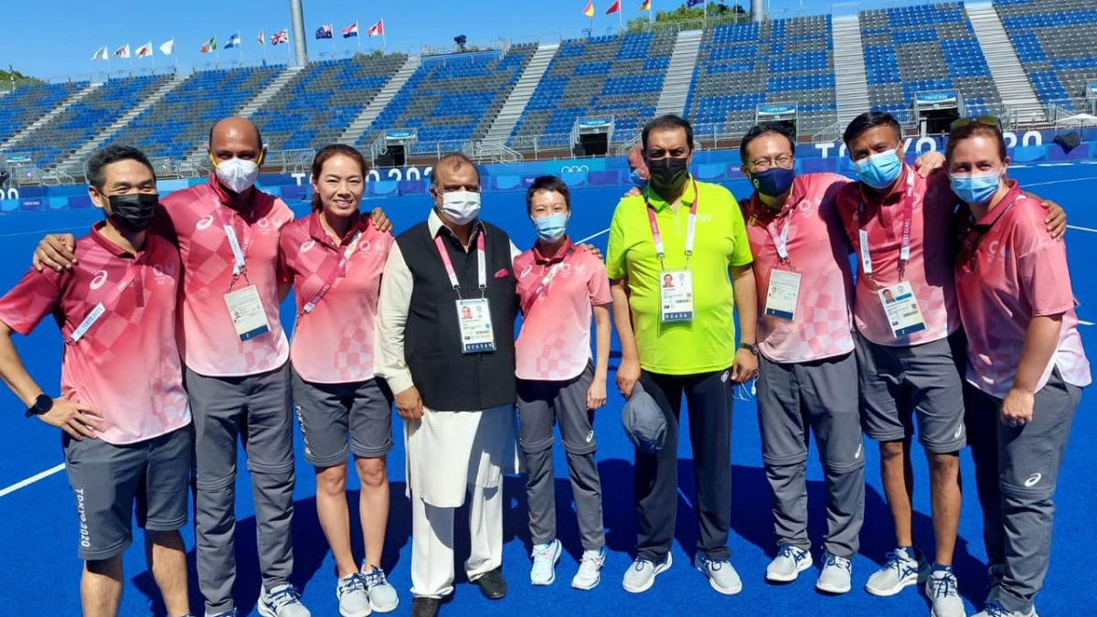 A WONDERFUL GESTURE TO THANK THE REFEREES & OFFICIALS OF THE HOCKEY MATCHES BY THE IHF AT THE TOKYO OLYMPICS 2020